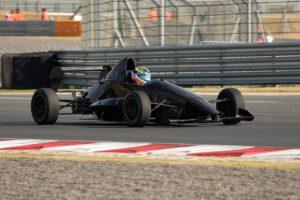 Robert Wolk demonstrates the 2017 Formula 1600 powered by Ford car at the Kyalami Grand Prix Circuit