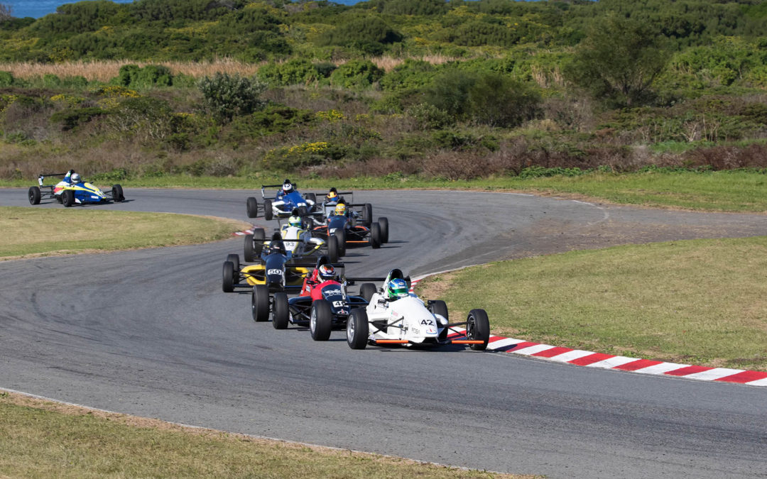 Investchem Formula 1600 competitors mix it up in East London